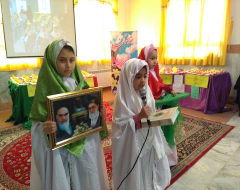 جشن  تولدمعنوی دختران گلمان پایه سوم