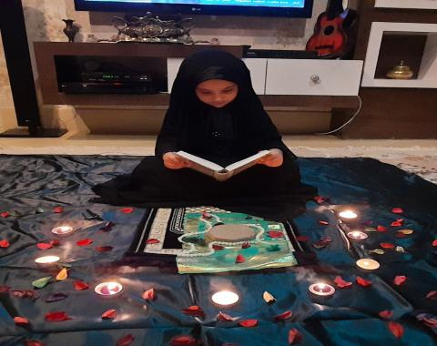 جشنواره عکس معنوی ونقاشی از پیام های قرآنی دختران گلمان پایه اول