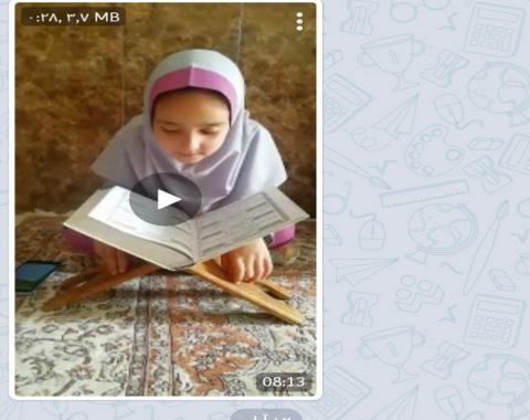گرامیداشت هفته عفاف وحجاب -نقاشی-عکس و…قصه شب درکانال اصلی مدرسه سروش وشاد
